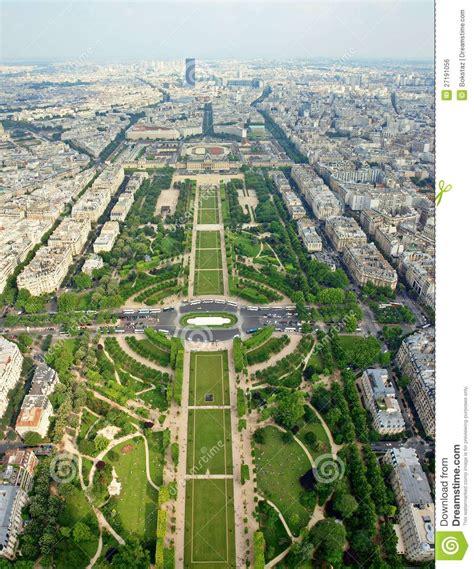 Garden Plans Zone - belles places de paris champ de mars image libre de droits image 27191056