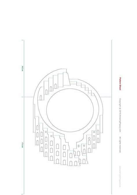 colosseum pop up card template colis 233 e киригами colis 233 e kiri et kirigami