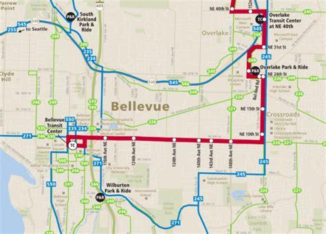 seattle eastside map metro s big map of eastside transit service