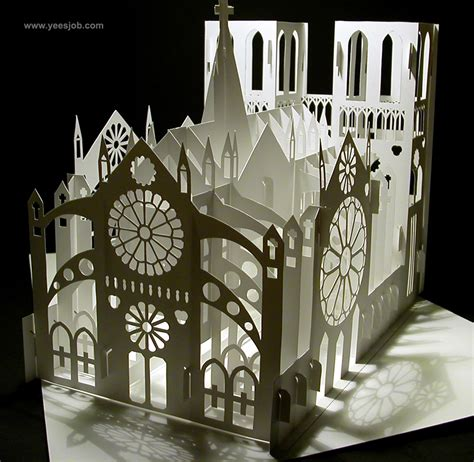 Second Version Of Notre Dame Cathedral Origamic Architecture