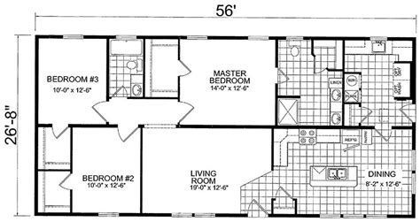 wide floor plans 3 bedroom 4 bedroom mobile home