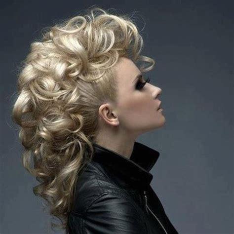 boisterous mohawk updo with curls curls curls hair