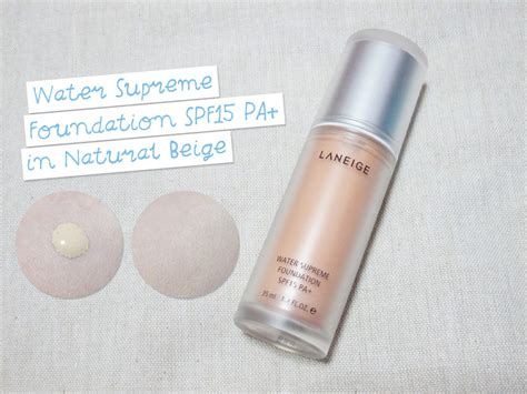 Laneige Water Supreme Foundation water bank the and bling by jacelyn sng