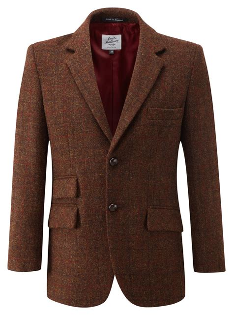 mens harris tweed jacket brown
