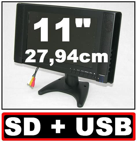 bnc eingang 11 220 berwachungsmonitor tft monitor mit vga bnc cinch