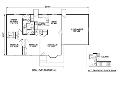 how many square feet is a 2 bedroom apartment ranch style house plan 3 beds 2 baths 1200 sq ft plan
