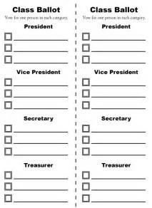 free ballot template word just b cause