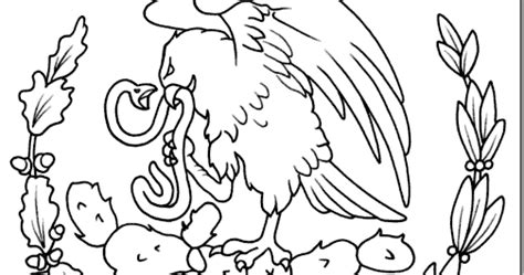 escudo bandera de mexico para colorear nocturnar dibujo del aguila escudo del pais de mexico para colorear