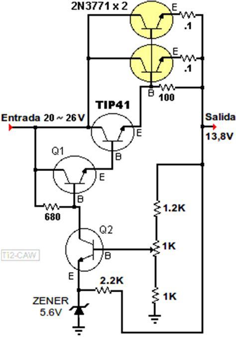transistor 2n3055 en paralelo la web hoy regulador 12 voltios