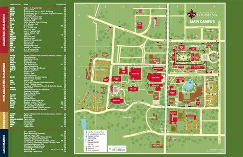 Mba Office Ul Lafayette by Cus Maps Of Louisiana At Lafayette