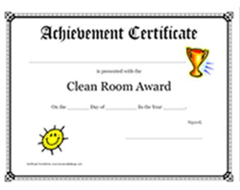 Clean Room Certification free printable clean room award certificates