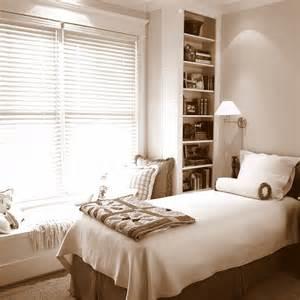 Bedroom Built In Shelves Guest Bedroom With Built In Window Seat And Book Shelves