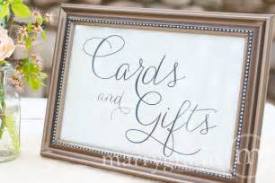 cards and gifts table sign wedding table reception seating