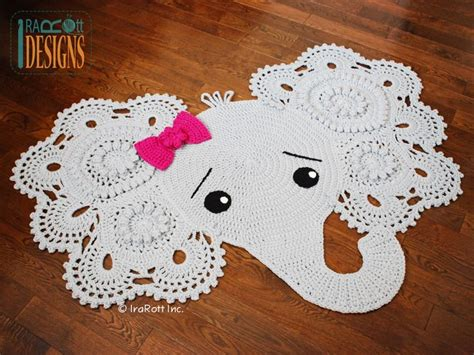 Crochet Elephant Rug by Josefina And Jeffery Elephant Rug Pdf Crochet Pattern For
