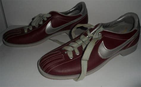 nike bowling shoes vintage burgundy gray 840709sn nike bowling shoes
