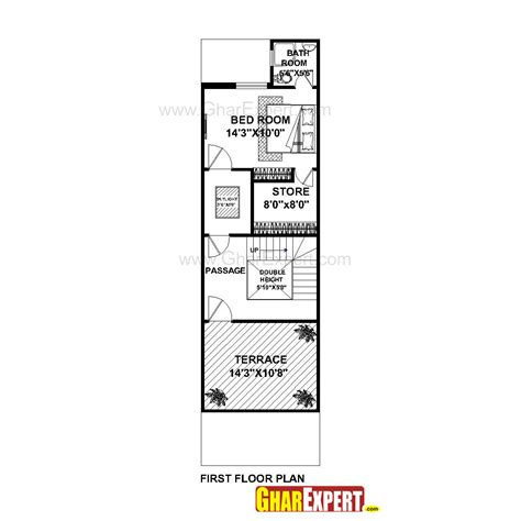 How To Estimate Cost Of Building A House house plan for 16 feet by 54 feet plot plot size 96
