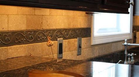 stainless steel outlet covers kitchen backsplash how to