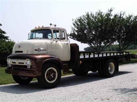 1956 ford c800 flatbed tow truck 132772