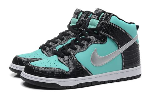 2017 nike dunk high tops casual shoes blue black silver