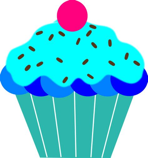 Blue W I Z A R D blue cupcake clip at clker vector clip royalty free domain