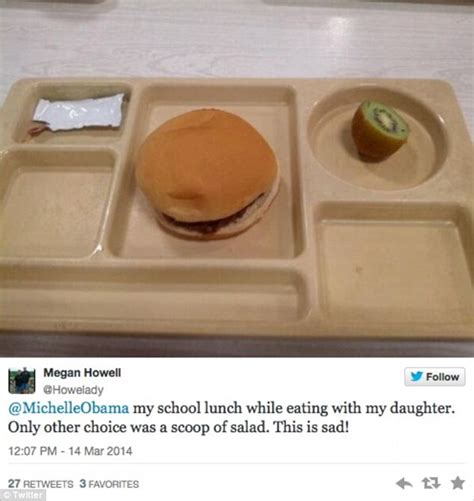 michelle obama lunch menu michelle obama railed against on twitter by students sick
