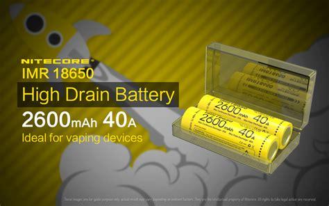 Casing Baterai Transparan 18650 nitecore imr18650 baterai vape 2600mah 40a 3 7v yellow jakartanotebook