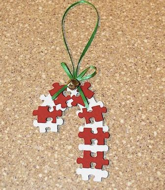 christmas art crafts for kids puzzle pieces candy canes