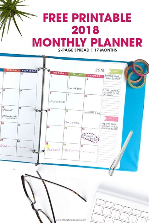 happy planner monthly printable free printable monthly planner calendar 2018 2 page