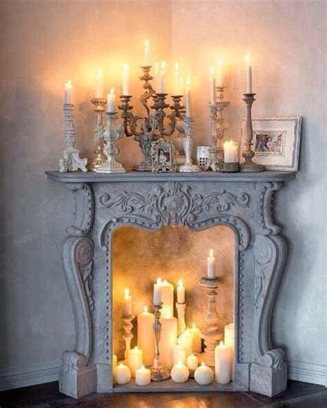 candle fireplace decorate dwell pinterest