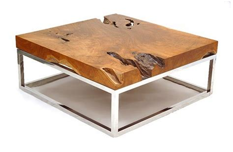 wood slab furniture at the galleria
