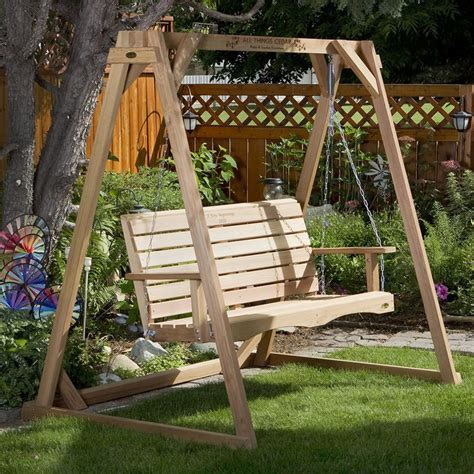 outdoor wooden swing 1000 ideas about outdoor swings on pinterest outdoor