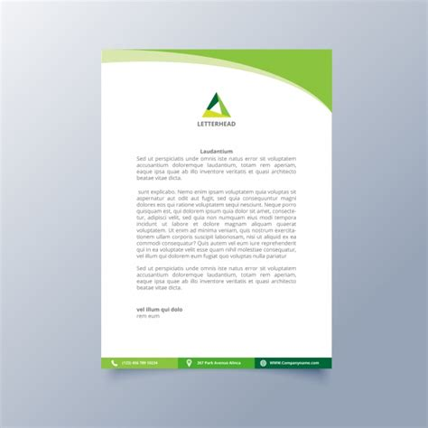 business letterhead design vector letterhead template design vector free