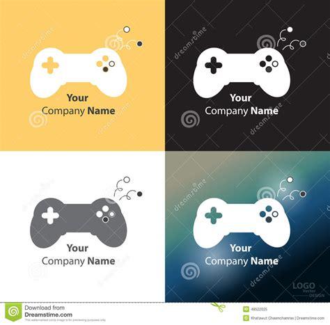 game design companies abstract logo vector design template stock illustration