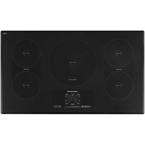 kitchenaid induction hob kitchenaid architect series ii 36 in smooth surface induction cooktop in black with 5 elements