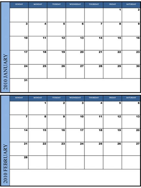 free 2011 bi monthly calendar template