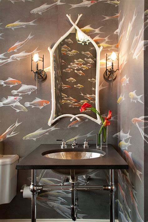 Bathroom Wallpaper Fish by Bathroom With Koi Fish Wallpaper De Gournay