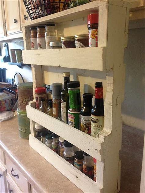 Diy Pallet Spice Rack Make It And It Wooden Pallets Made Kitchen Shelves Diy Motive