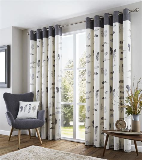 beige and cream curtains feather grey cream beige white lined 100 cotton ring top
