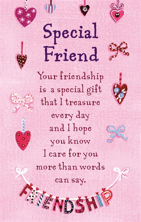 for a very special friend greeting card everyday friend special friend heartwarmers keepsake credit card