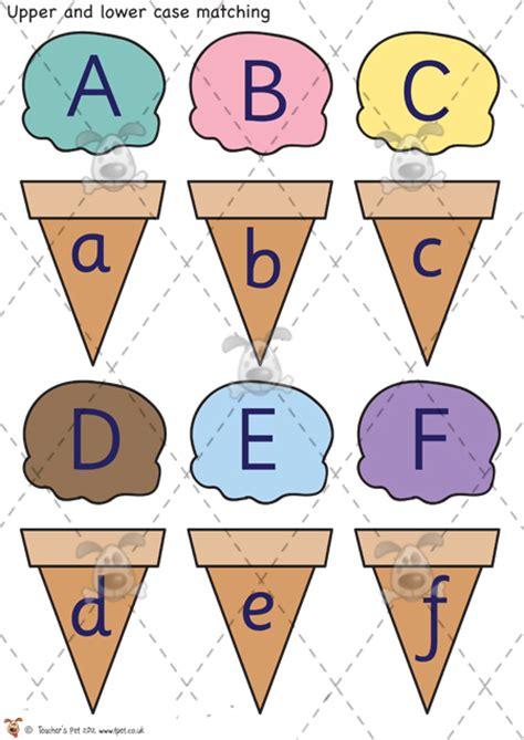 printable alphabet matching game teacher s pet ice cream letter matching premium