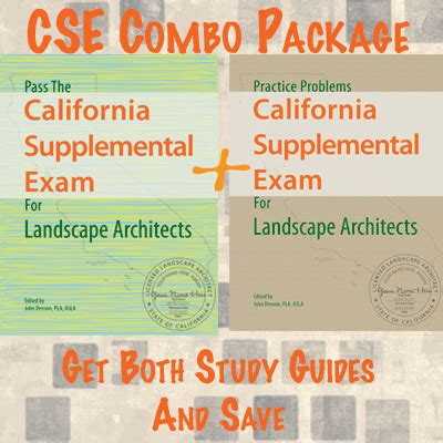 Landscape Architect Registration Examination Cse Combo Package Study Guides For The California
