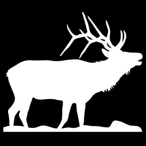 Elk Sticker bugling elk wall decal
