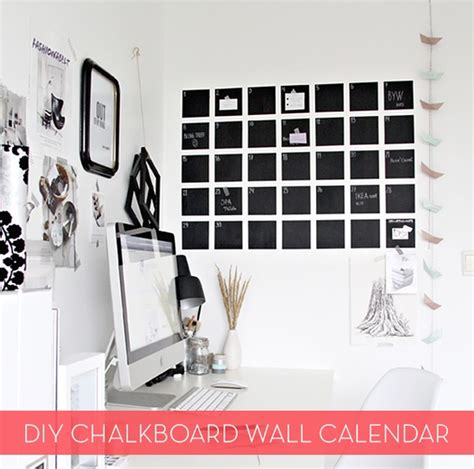 diy chalkboard wall calendar make it diy modern chalkboard wall calendar curbly