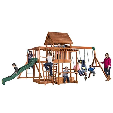 monticello swing set backyard discovery monticello all cedar wood playset swing
