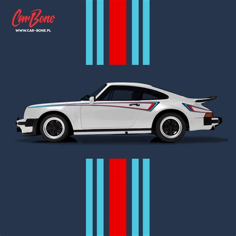 porsche martini porsche m42 martini side stripes livery pack car bone pl