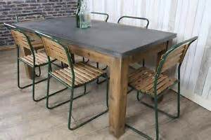 Metal Topped Dining Table Industrial Style Zinc Top Dining Table Large Rustic Metal Top Table 1 8m