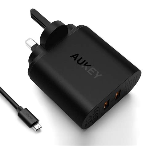 Aukey Pa T16 Usb Wall Charger With Dual Qualcomm Charge 30 aukey pa t16 3pin dual usb certified end 2 15 2020 4 19 pm