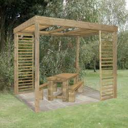 Side Pergola by Dining Pergola With Side Panels Buy Fencing Direct