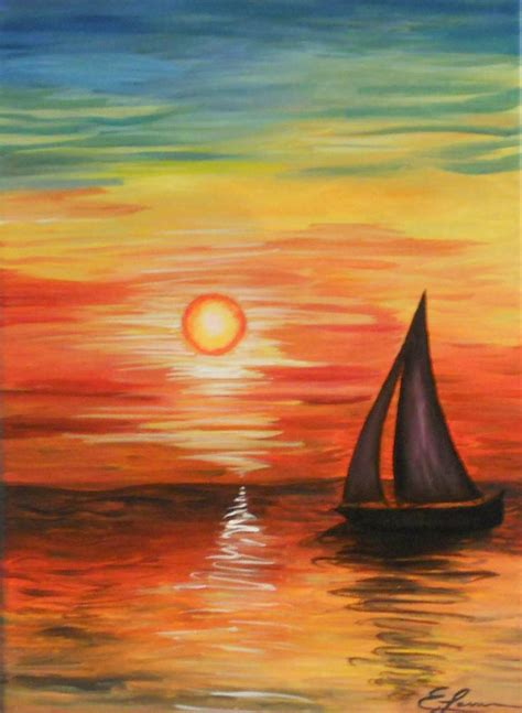 painting acrylic landscapes easy way acrylic canvas painting landscape kid ideas