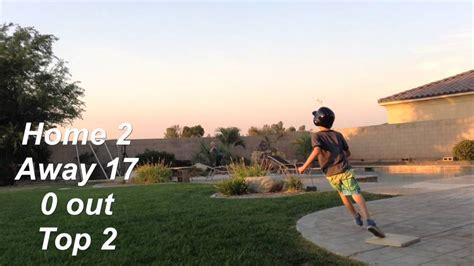 backyard wiffle ball game crazy backyard wiffle ball game youtube gogo papa